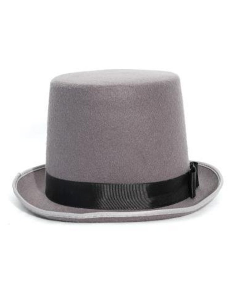 Gray Bell Top Hat