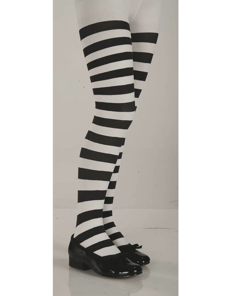 Black And White Striped Pantyhose (Child Size)
