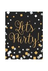 Black & White Confetti Invites
