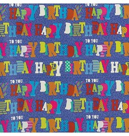 Blue Birthday Gift Wrap