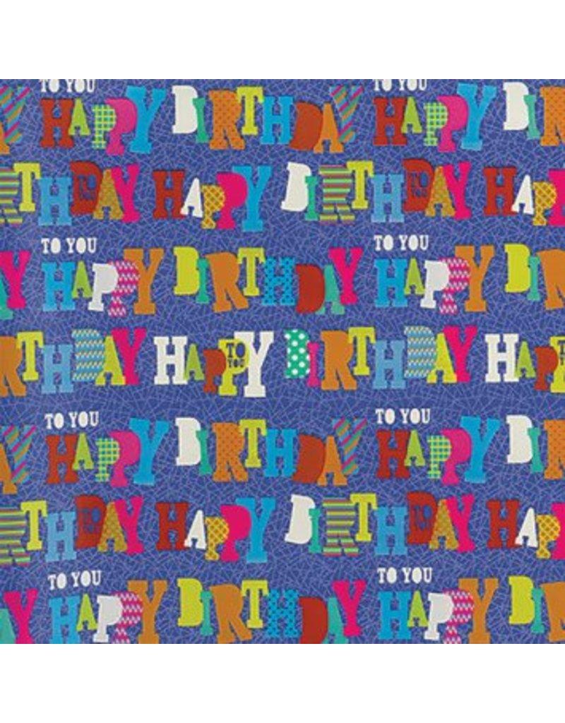 Blue Birthday Gift Wrap