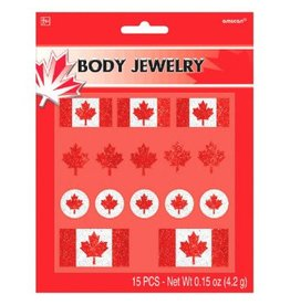 Canada Day Body Jewelry