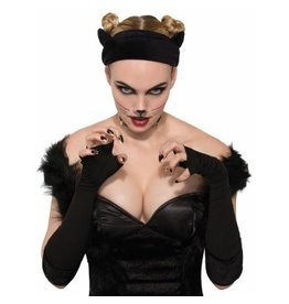 Black Cat Velvet Headband
