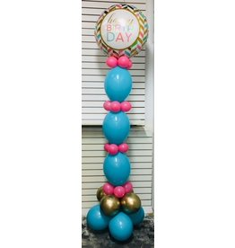 Deluxe Balloon Tower ($15 Plus Cost of Mylar Balloon)