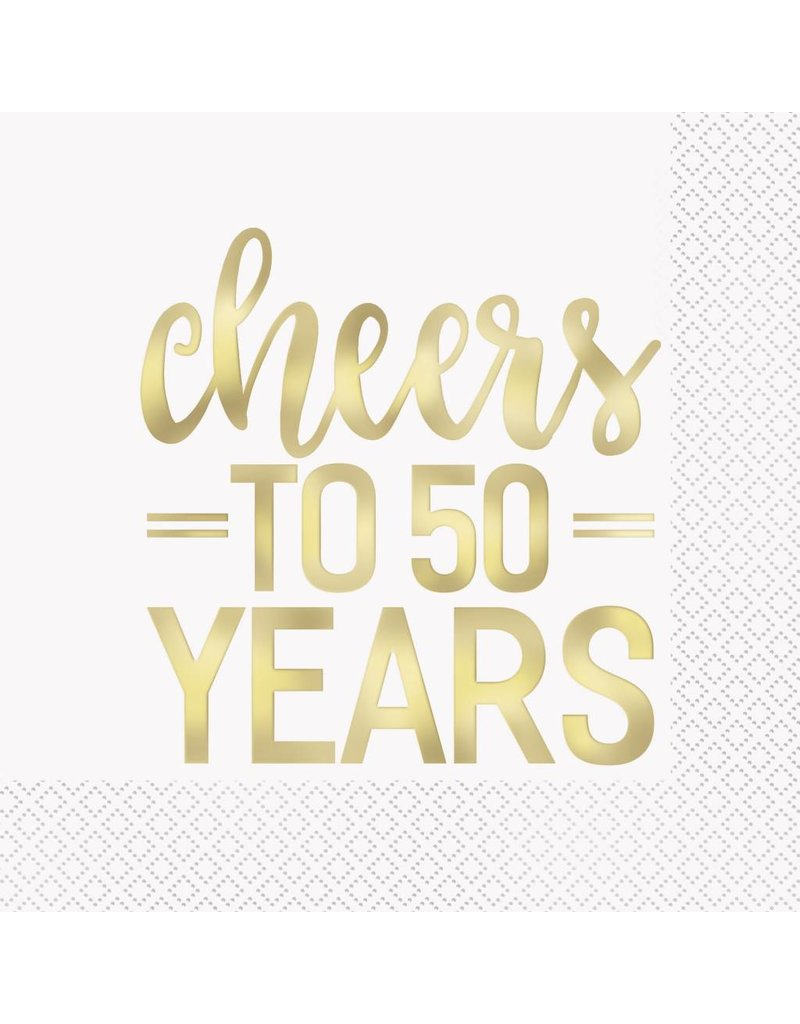 Cheers to 50 Years Lunch Napkins (16)