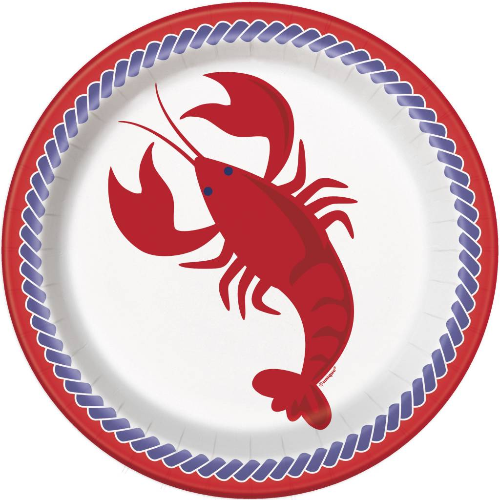 "Nautical Lobster 9"" Dinner Plate (8)"