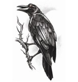Goth Temporary Tattoo The Raven