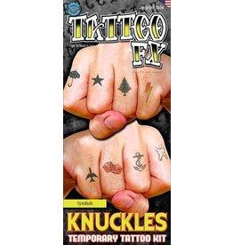 Knuckles - Symbols Temporary Tattoos