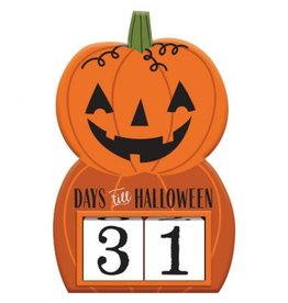 Count Down to Halloween Standing Sign