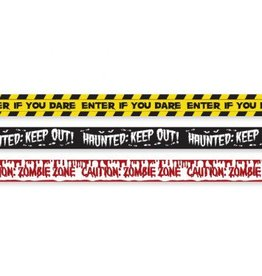 Halloween Fright Plastic Tape Banners