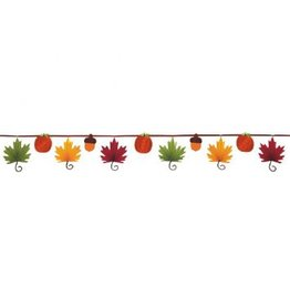Leaf-Shaped Fan Banner Garland