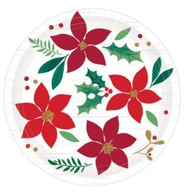 "Christmas Wishes Round Plates, 7"" (8)"