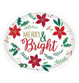 "Christmas Wishes Oval Plates, 12"" (8)"
