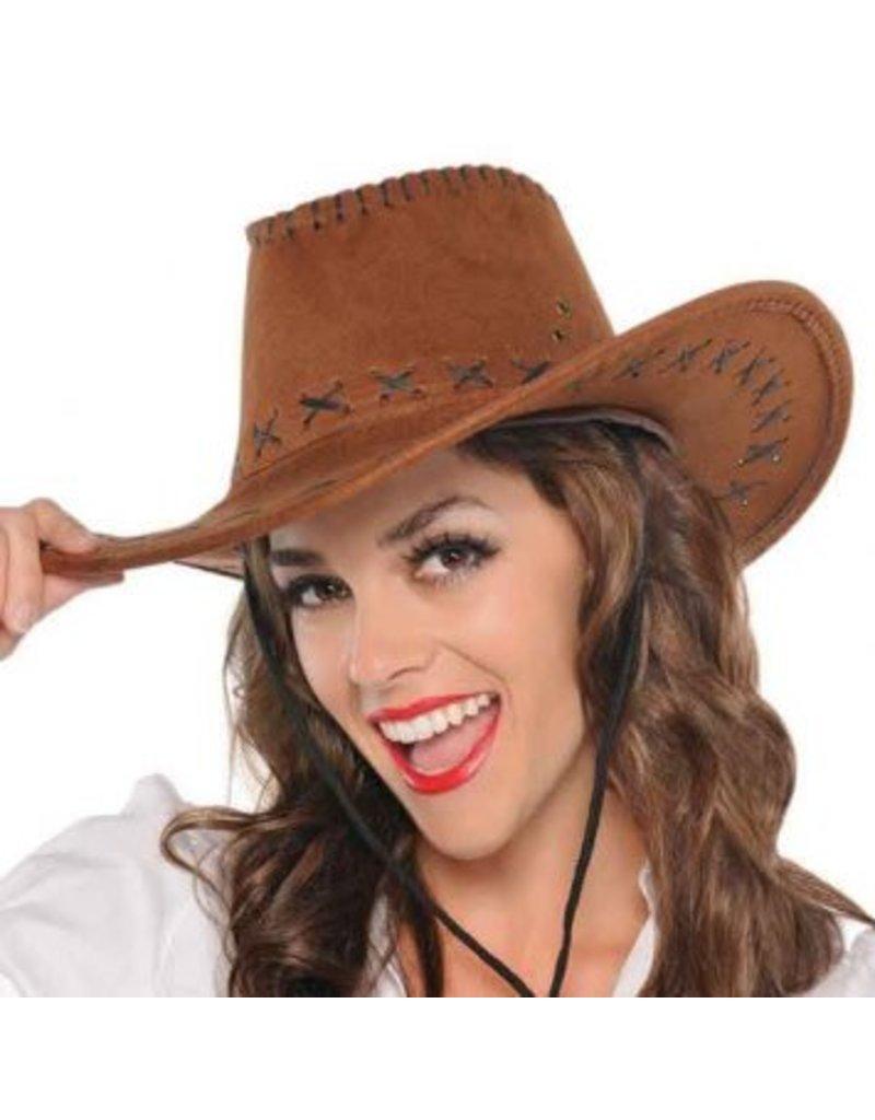 Cowboy Faux Suede Hat