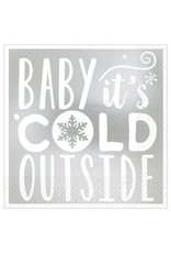 Baby It's Cold Outside Beverage Napkins Hot-Stamped (16)