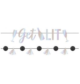 Disco Ball Drop Letter Banner Kit
