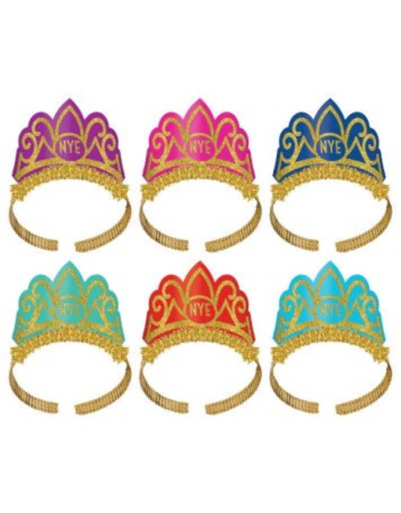 New Year's Tiaras - Multi-Colour (6)