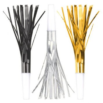 New Year's Squawkers - Black, Silver, Gold (8)