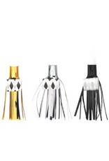 Foil Fringed Blowouts - Black, Silver & Gold (24)