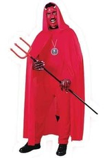 "68"" Red Hooded Cape"