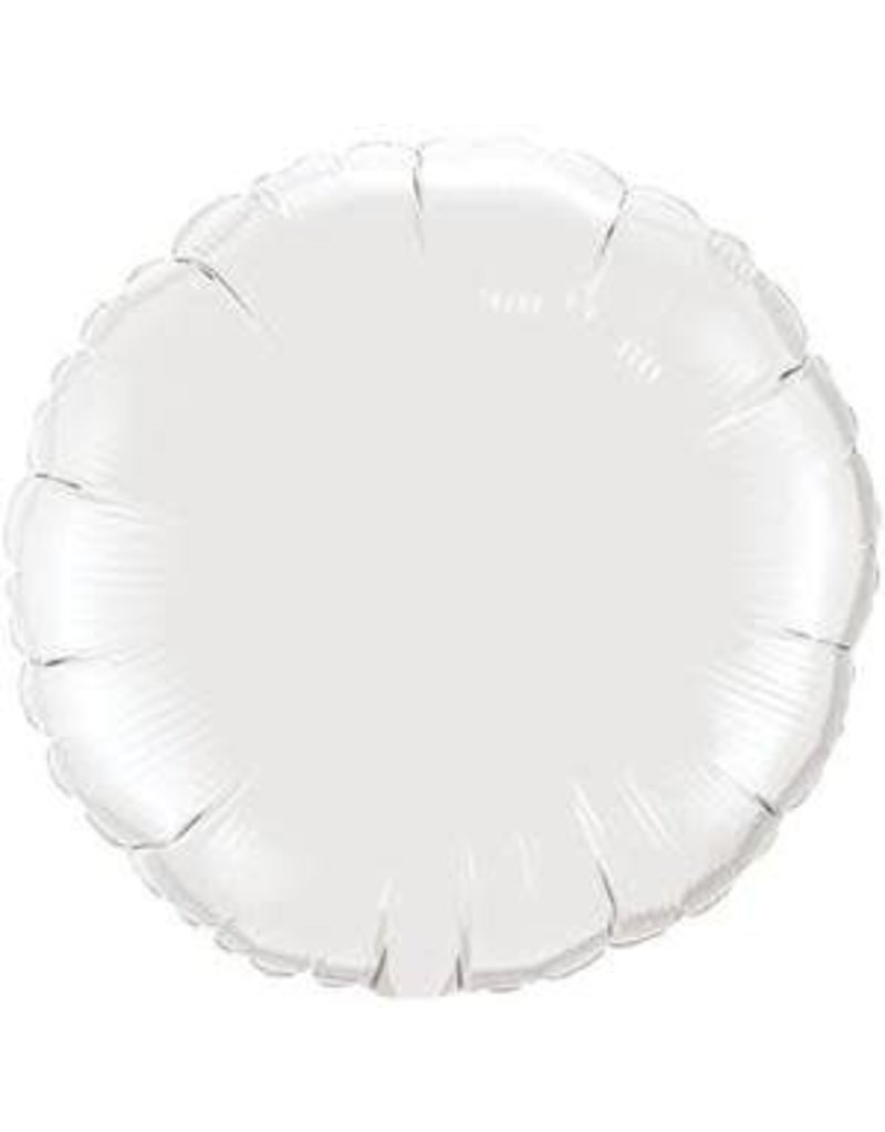 "White Round 18"" Mylar Balloon"