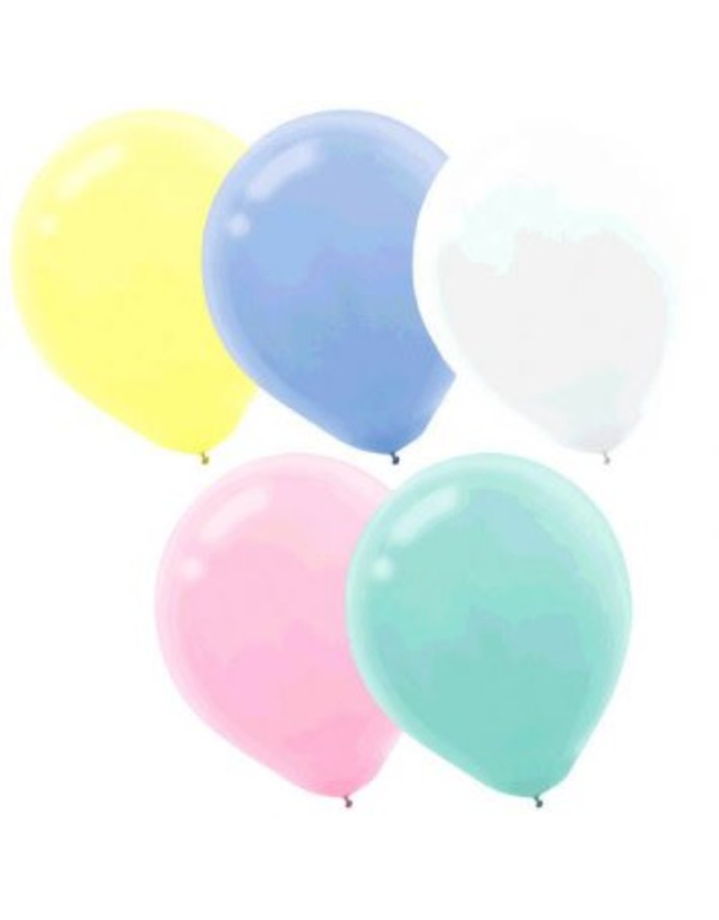 "Pastel 11"" Latex Balloons (15)"