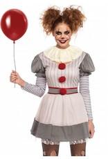 Womens Costume Creepy Clown S/M