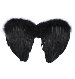 Mini Black Feather Wings