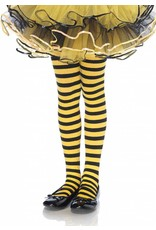 Yellow & Black Striped Pantyhose Medium (Child Size)