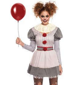 Women's Costume Creepy Clown M/L