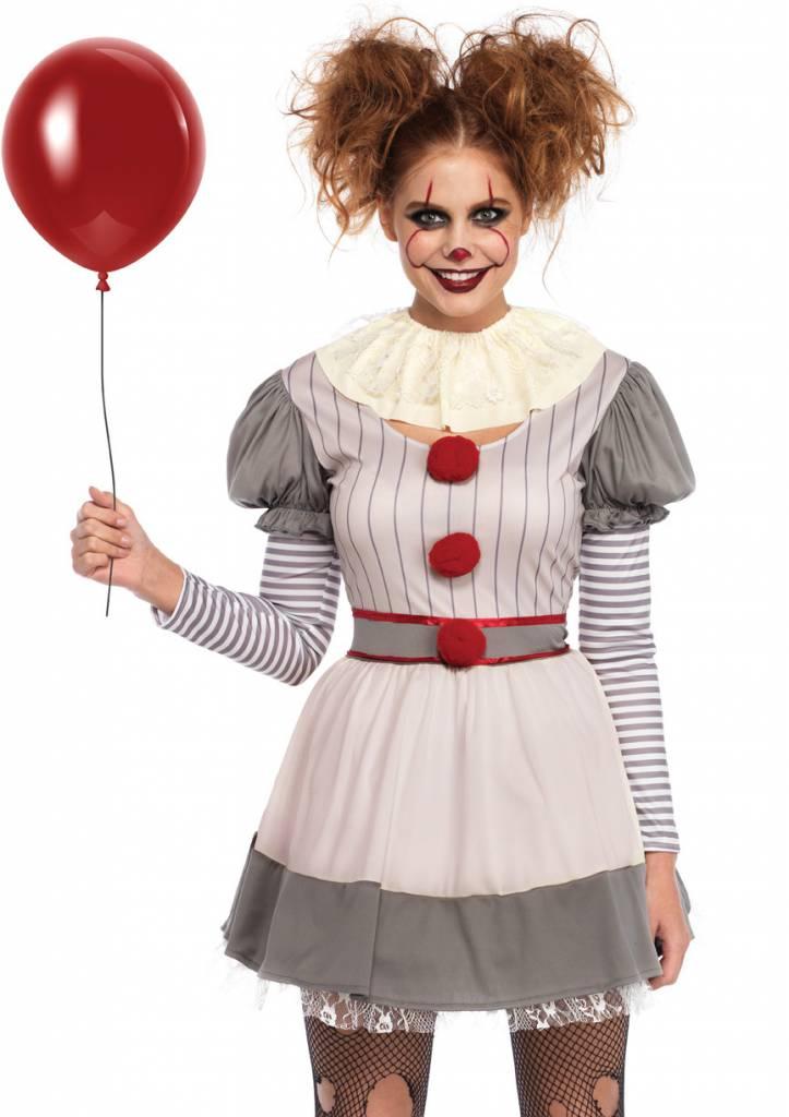 Women's Costume Creepy Clown M/L