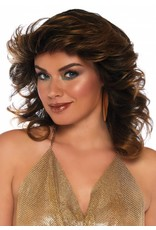 Farrah Feathered Brown Wig