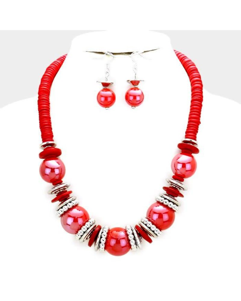 AccessHERize Coco Wooden Bead Necklace