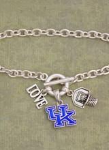 AccessHERize Kentucky Wildcats Slam Dunk Charm Bracelet
