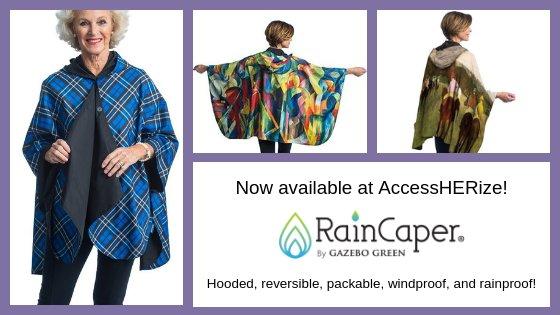Introducing, RainCaper: Reversible, Hooded, Packable, Rain Ponchos!