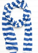 Tickled Pink Gameday Striped Knit Scarf