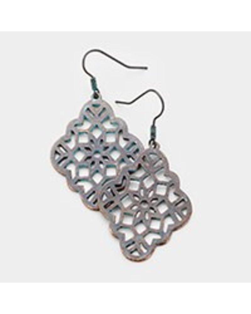 AccessHERize Filigree Quatrefoil Earrings