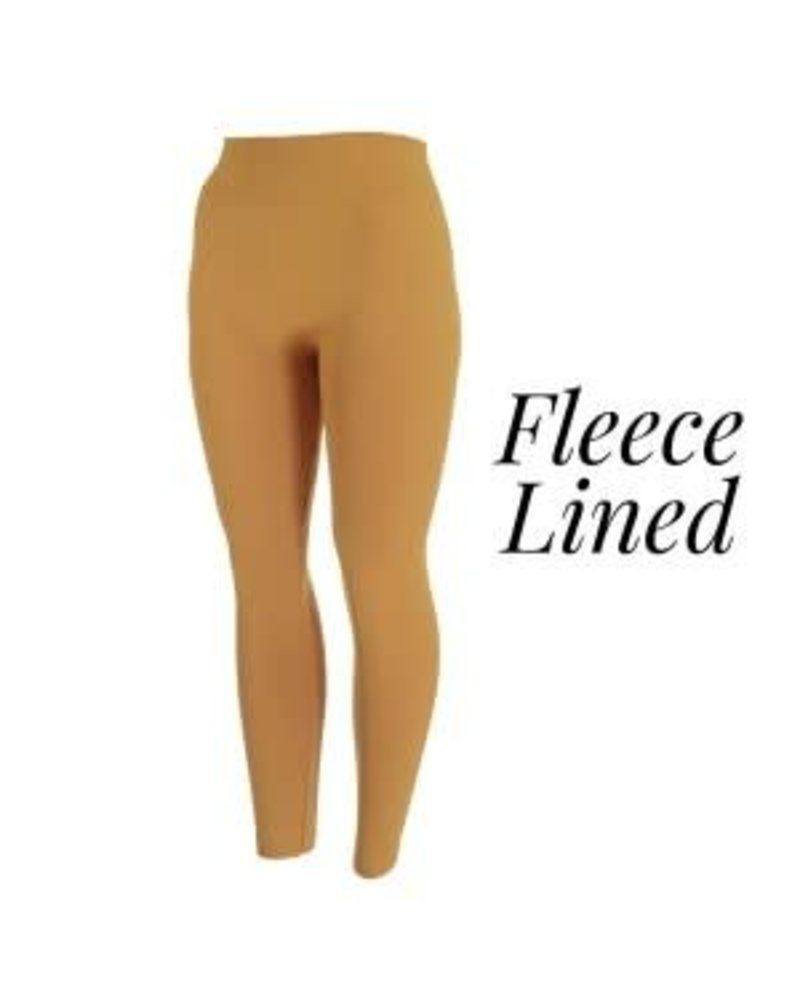New Mix Fleece Lined Leggings - One Size