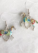 AccessHERize Painted Horse Earrings
