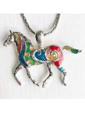 AccessHERize Painted Horse Necklace