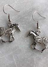 AccessHERize Cutout Horse Hook Earrings