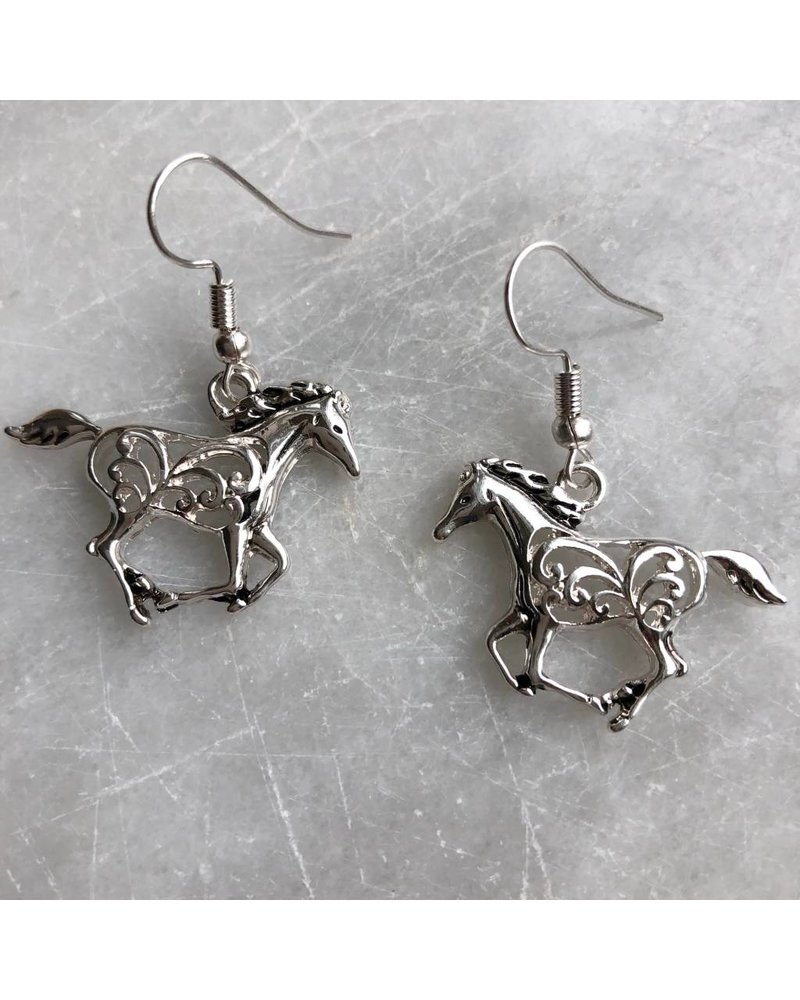 AccessHERize Cutout Horse Hook Earrings