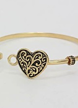 AccessHERize Filigree Heart Hook Bangle