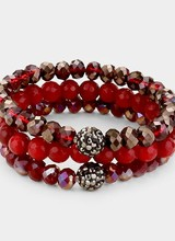 AccessHERize 3 Piece Stretch Bead Bracelet