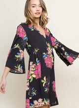 AccessHERize Black Floral Babydoll Dress
