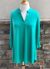 AccessHERize Solid Split Neck Tunic Top