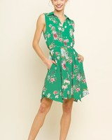 AccessHERize Sleeveless Button Front Dress