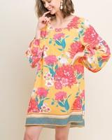 AccessHERize Sunshine Puff Sleeve Dress