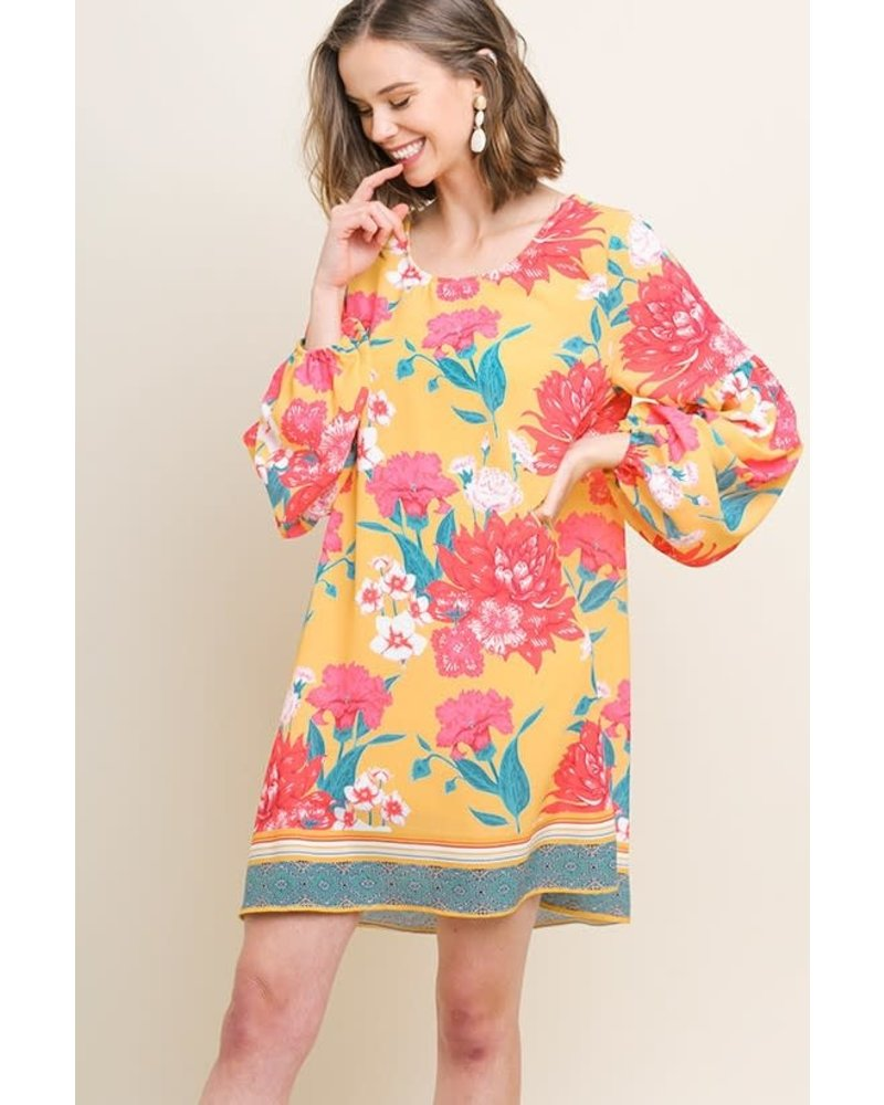 AccessHERize Sunshine Puff Sleeve Dress