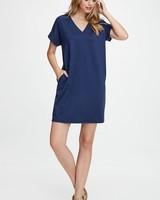 AccessHERize Short Sleeve V Neck Pocket Dress